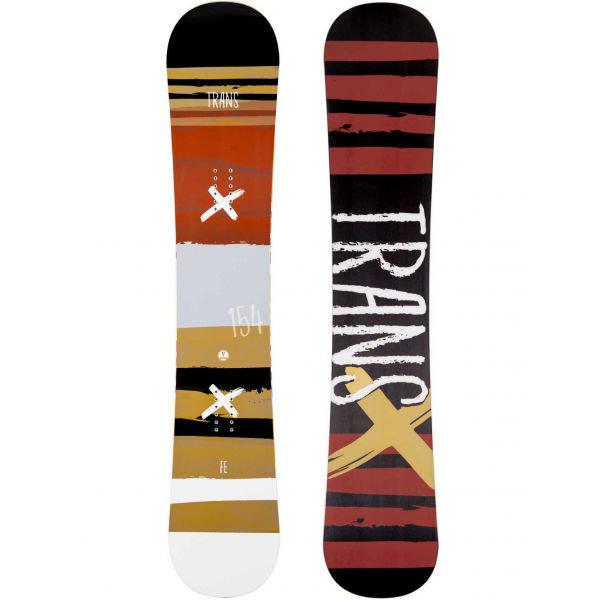 Bílo-oranžový snowboard bez vázání Trans