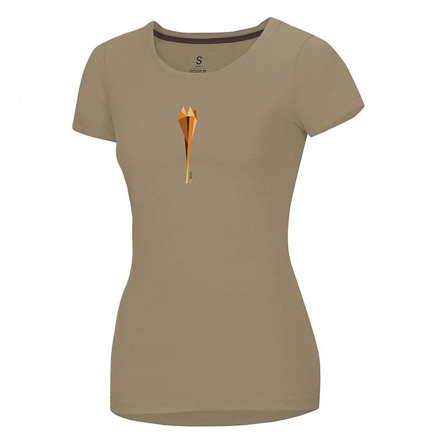 Hnědé dámské turistické tričko s krátkým rukávem Ocún
