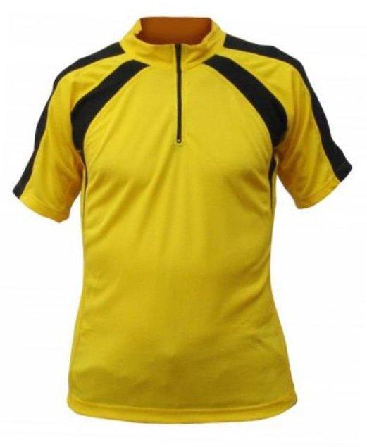 Žlutý pánský nebo dámský cyklistický dres Merco