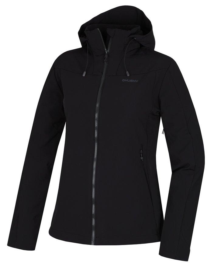Černá softshellová dámská bunda Husky
