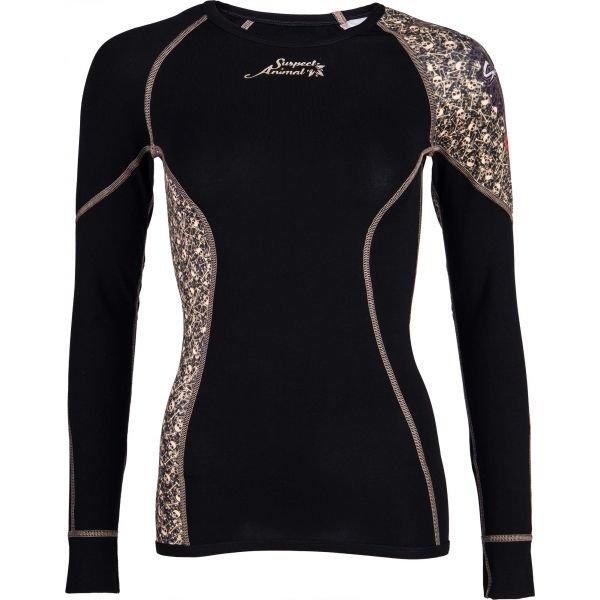 Černé dámské funkční tričko s dlouhým rukávem Suspect Animal
