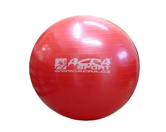 Červený gymnastický míč CorbySport - průměr 75 cm