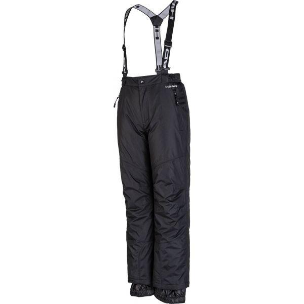 Černé dětské lyžařské kalhoty Head