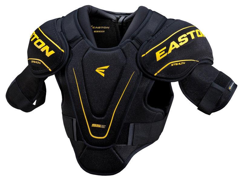 Černý hokejový chránič ramen - senior Easton - velikost S