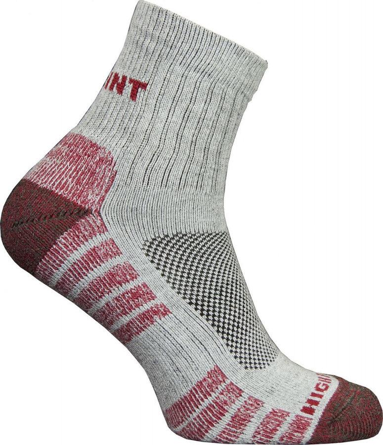 Červeno-šedé dámské trekové ponožky High Point - velikost 35-37 EU