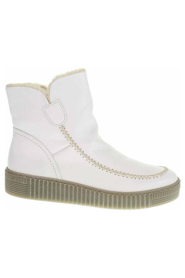 Bílé dámské zimní boty Gabor - velikost 37 EU