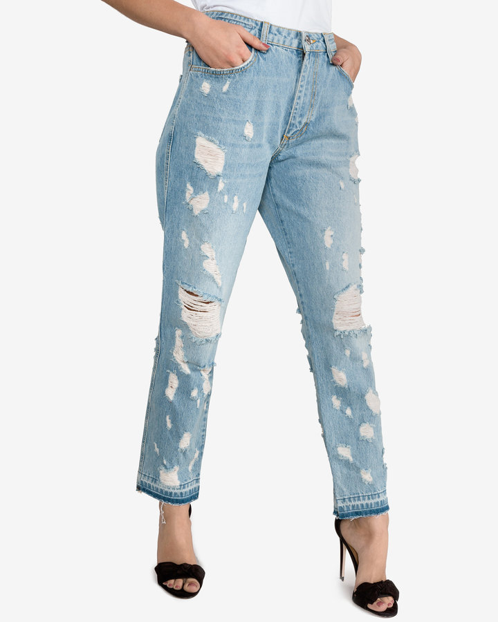 Modré dámské džíny Silvian Heach