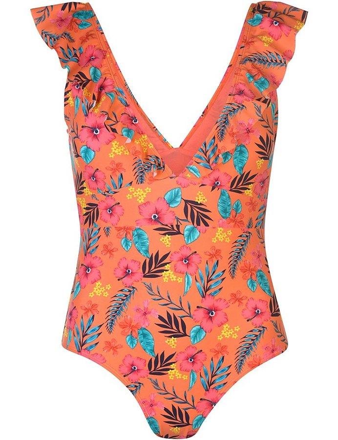 Oranžové jednodílné plavky SoulCal
