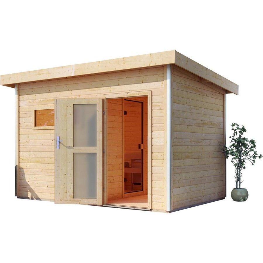 Venkovní finská sauna pro 2 osoby Skrollan 2, Karibu