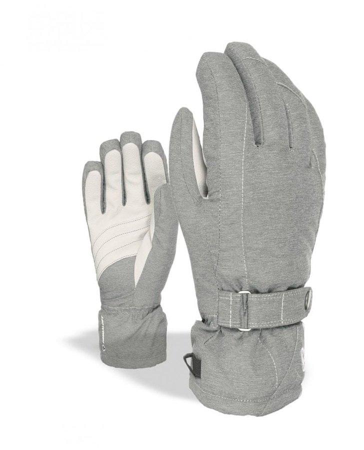 Šedé dámské lyžařské rukavice Level - velikost S-M