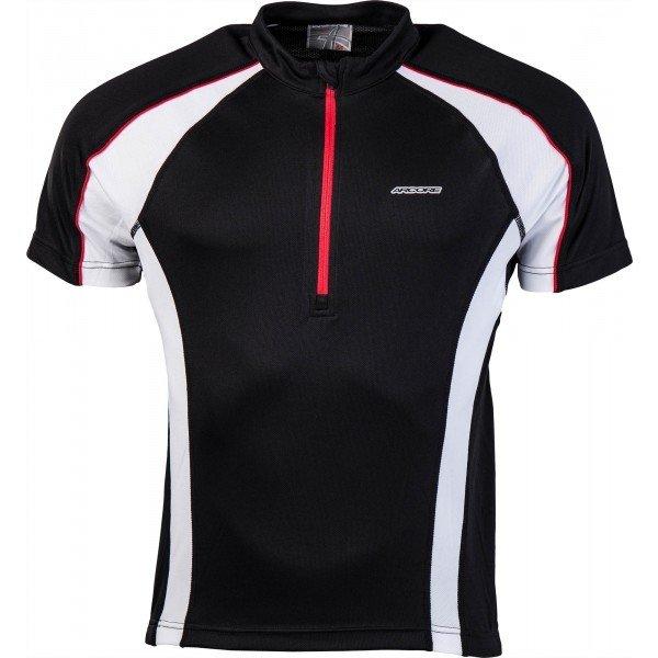 Bílo-černý pánský cyklistický dres Arcore