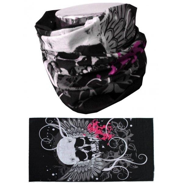 Šátek Scarf Skull Pink, MTHDR
