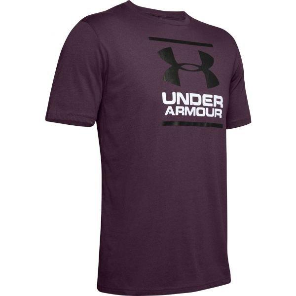 Fialové pánské tričko s krátkým rukávem Under Armour