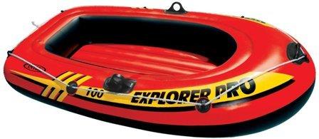 Červený nafukovací člun s nafukovacím dnem pro 1 osobu INTEX