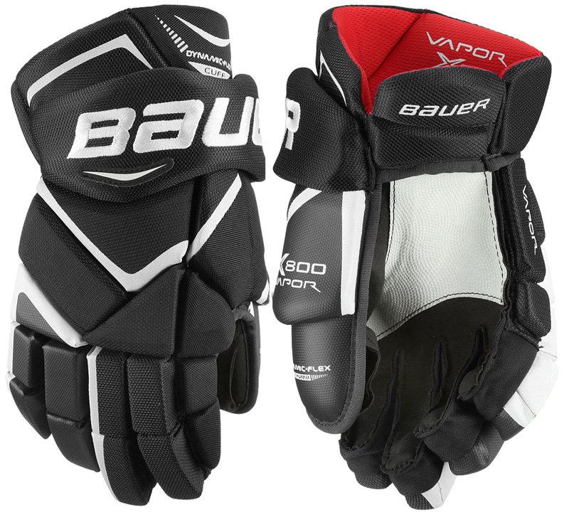 """Bílo-modré hokejové rukavice - senior Vapor X800, Bauer - velikost 15"""""""