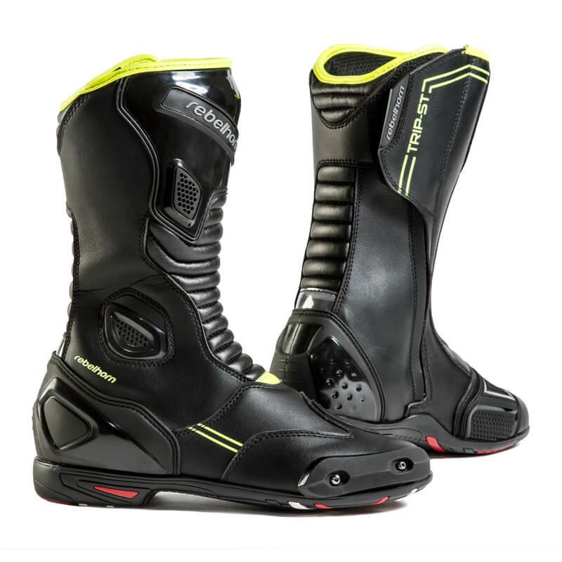 Černo-žluté vysoké pánské motorkářské boty Trip ST CE, Rebelhorn