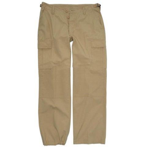 Kalhoty - Kalhoty dámské US BDU rip-stop předeprané KHAKI