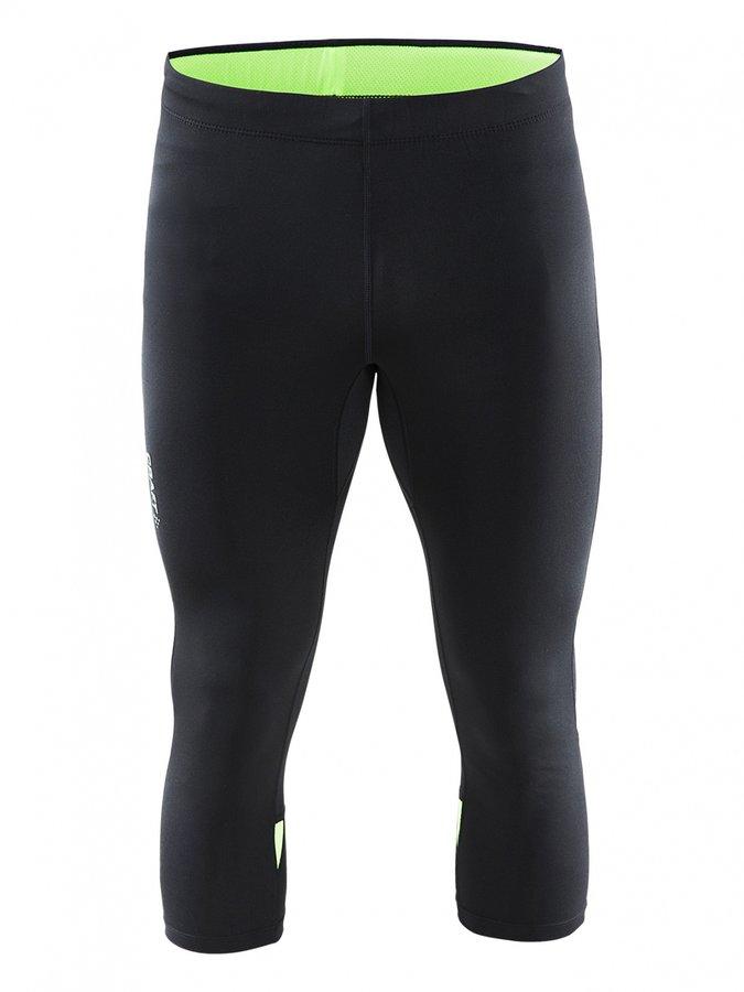 Černo-zelené 3 4 pánské běžecké kalhoty Prime Knickers 3296502c1d