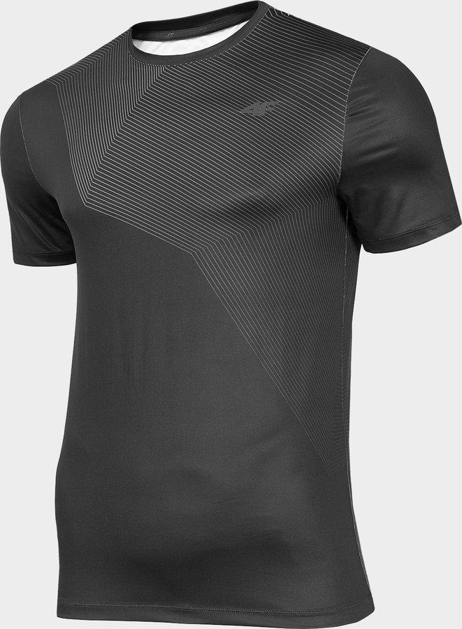 Černé pánské funkční tričko s krátkým rukávem 4F