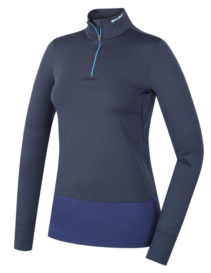 Modré dámské termo tričko s dlouhým rukávem Husky - velikost M