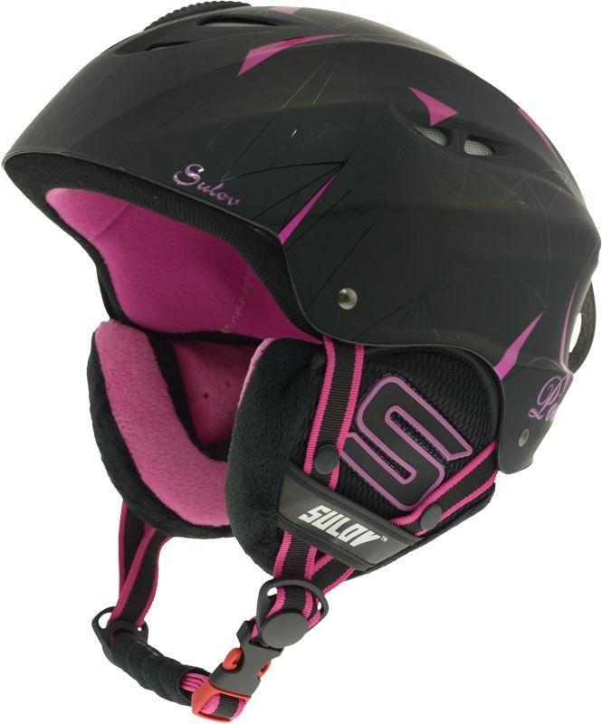 Černá lyžařská helma Sulov - velikost 54-58 cm