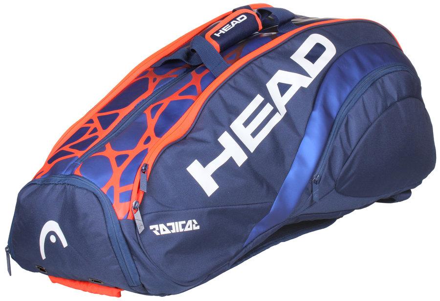 Modro-oranžová tenisová taška s popruhy na záda Head