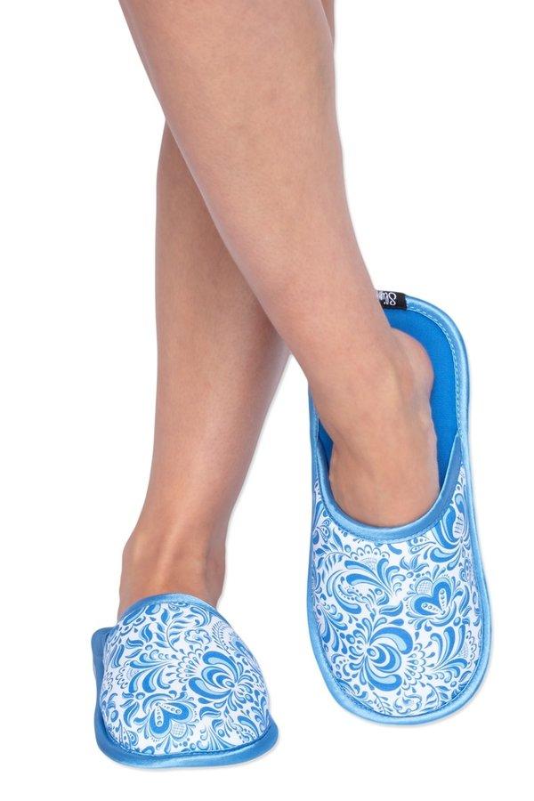 Bílo-modré pantofle Slippsy