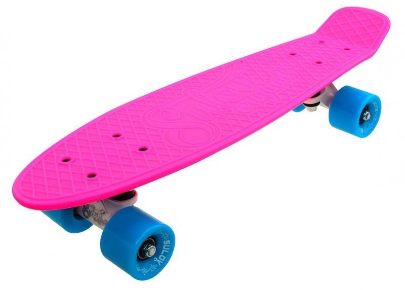 """Pennyboard - Penny board 22"""" SULOV NEON SPEEDWAY růžovo-modro-bílý"""