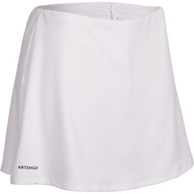 Bílá dámská tenisová sukně Artengo