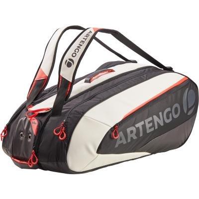 Bílo-černá tenisová taška Artengo