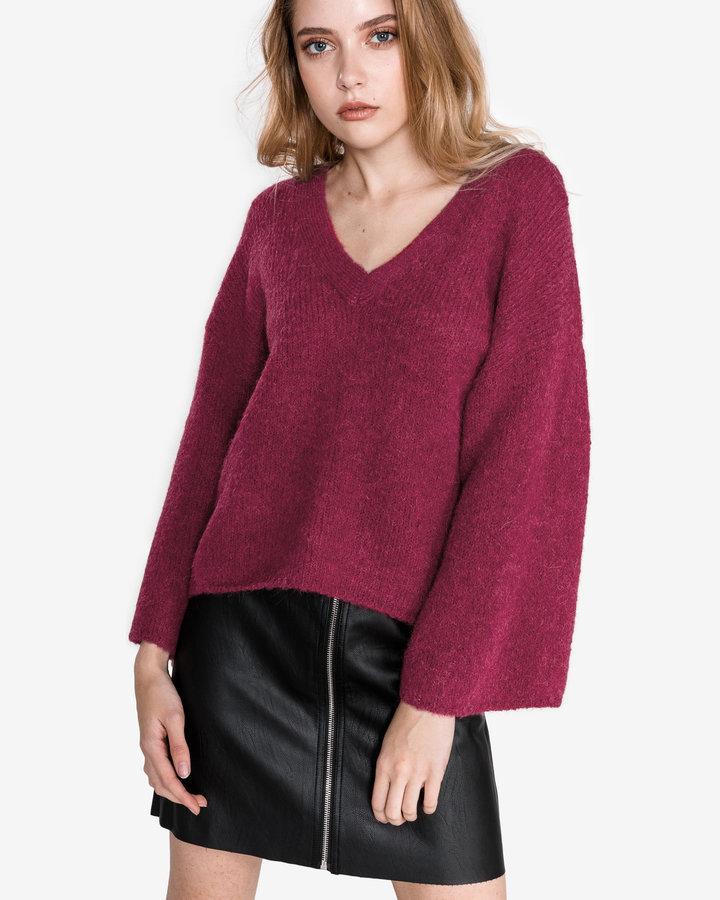 Červený dámský svetr Selected - velikost L