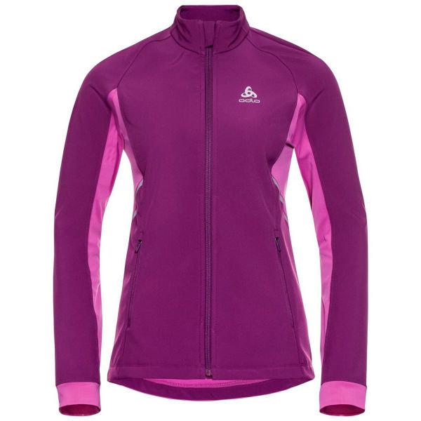 Růžová dámská bunda na běžky bez kapuce Odlo - velikost L