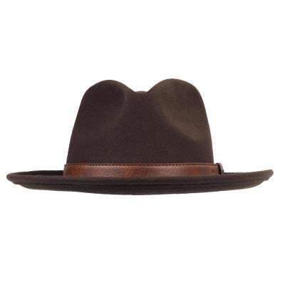 Hnědý lovecký klobouk Solognac
