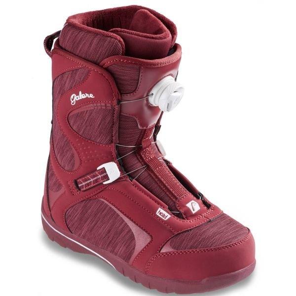 Červené dámské boty na snowboard Head