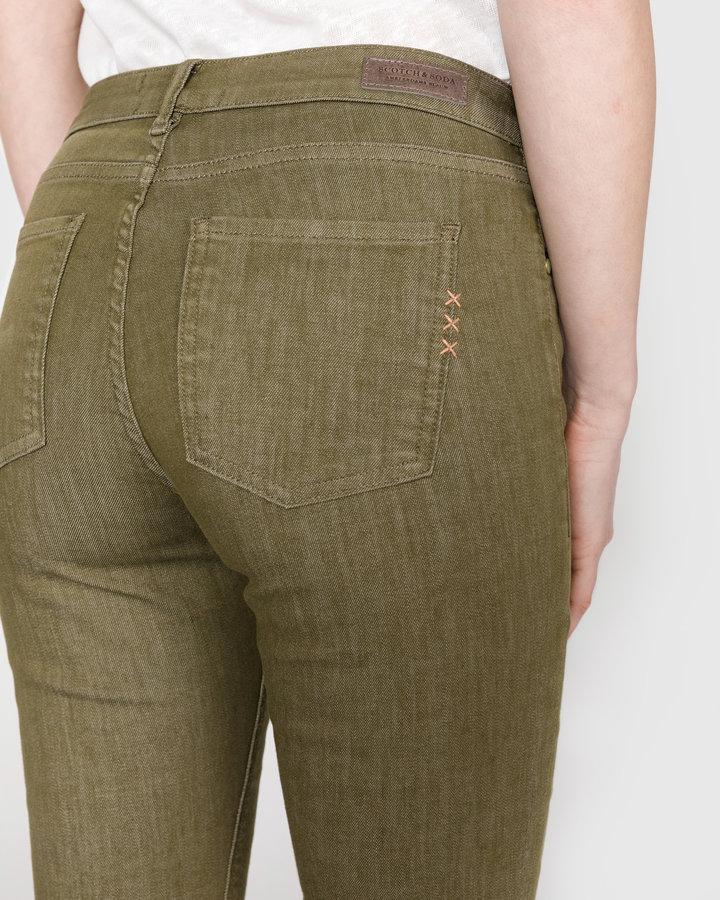 Zelené dámské džíny Scotch & Soda - velikost 27