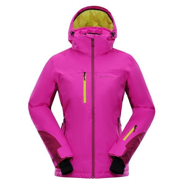 Fialovo-růžová dámská lyžařská bunda Alpine Pro - velikost L