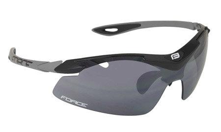 Černé cyklistické brýle DUKE, Force