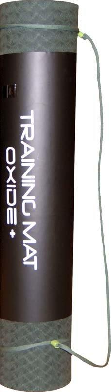 Šedá podložka na cvičení Oxide - tloušťka 0,6 cm