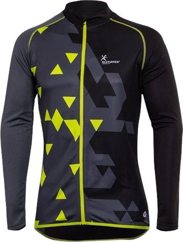 Černo-zelený pánský cyklistický dres Klimatex