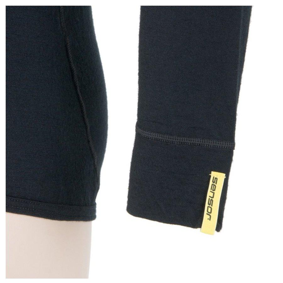 Černé pánské tričko s dlouhým rukávem Sensor - velikost XXL