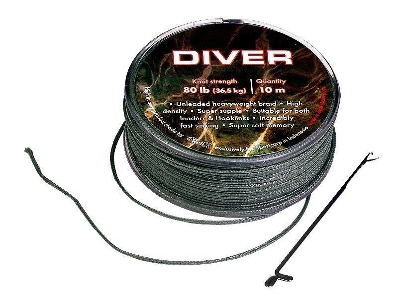 Návazcová šňůra - Sportcarp návazcová šňůrka Diver Varianta: Diver 25lb 20m Olive Green
