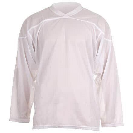 Bílý tréninkový hokejový dres Merco - velikost M