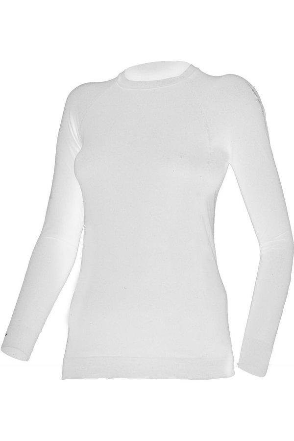 Bílé dámské funkční tričko s dlouhým rukávem Lasting - velikost XS