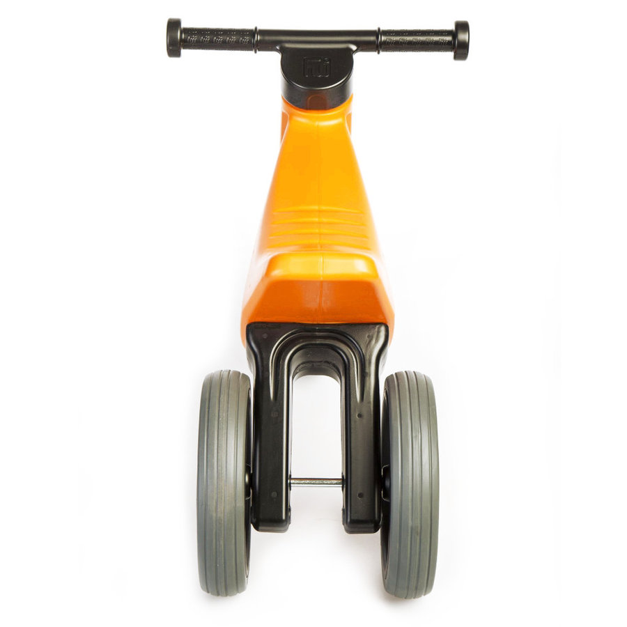 Černo-oranžové dětské odrážedlo Funny Wheels