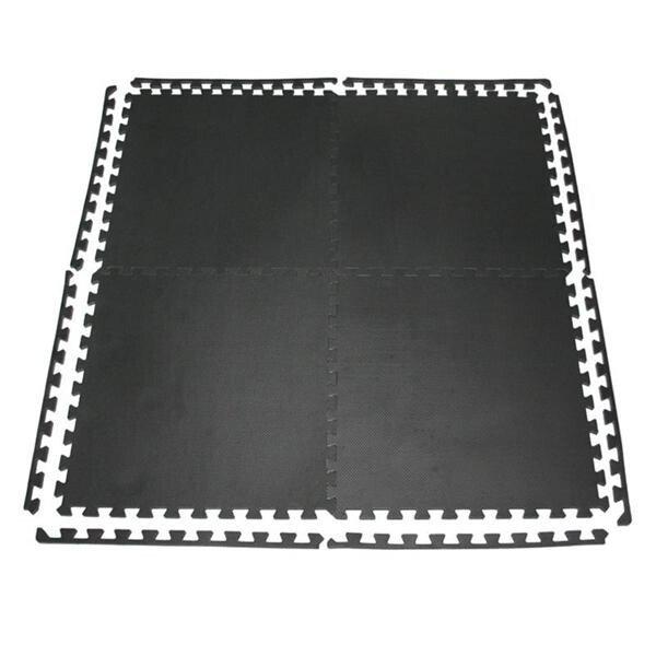 Černá zátěžová podložka One Fitness - tloušťka 10 mm