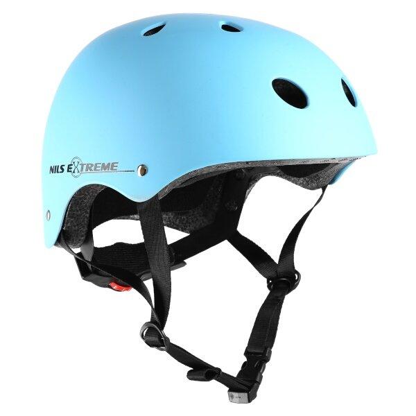 Modrá cyklistická helma