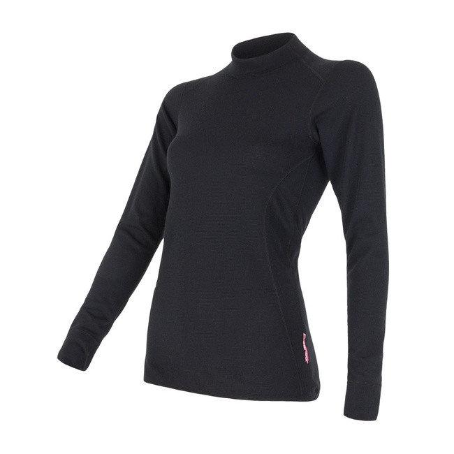 Černé dámské tričko s dlouhým rukávem Sensor