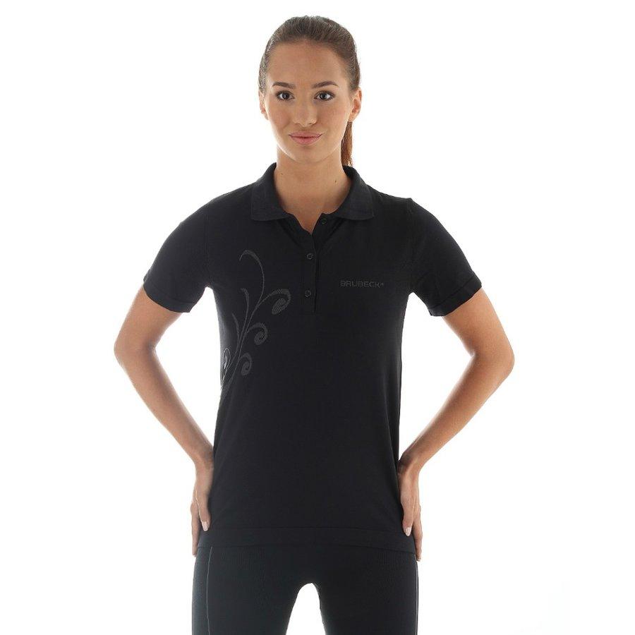 Černá dámská polokošile s krátkým rukávem Brubeck - velikost S