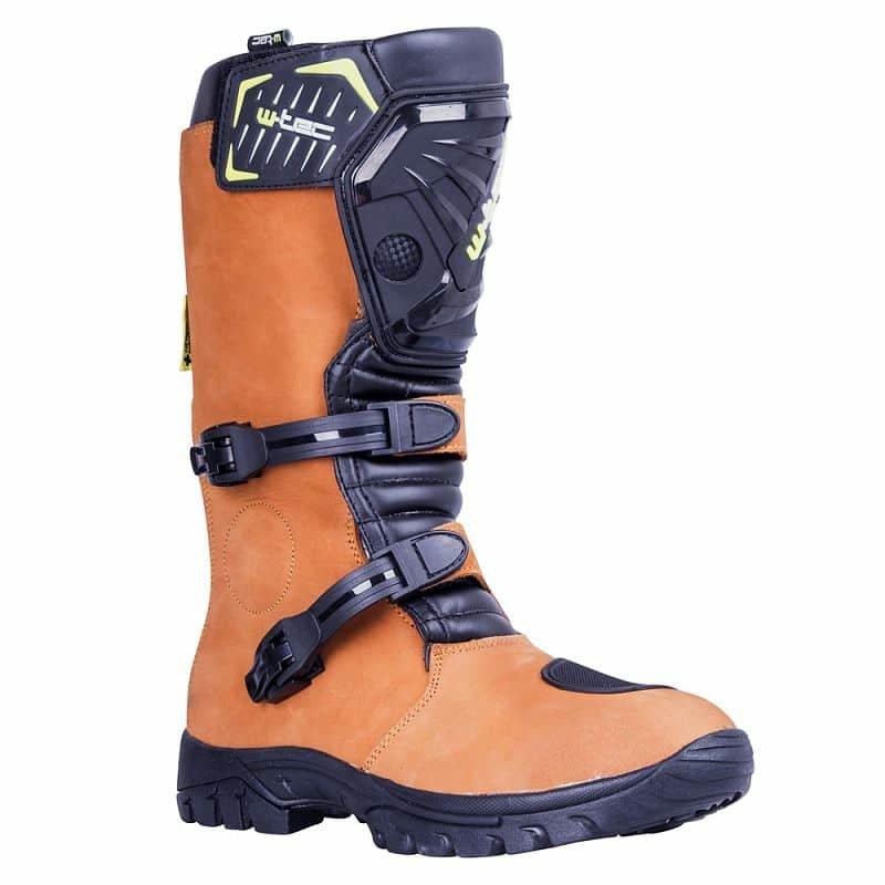 Černo-hnědé vysoké motorkářské boty MX-1, W-TEC