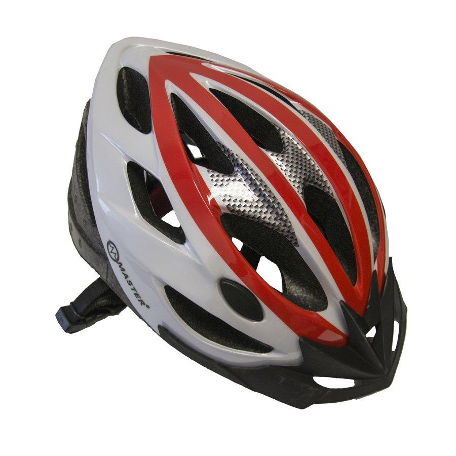 Bílo-červená cyklistická helma Force - velikost 58-61 cm